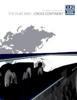 Tài liệu THE DUKE MBA—CROSS CONTINENT doc