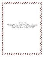 """Luận văn """"Phòng Chống Cháy Qua Mạng Internet – Dựa Trên Giao Thức TCPIP"""""""