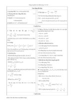 Tài liệu lý thuyết và bài tập vật lý ôn thi đại học