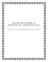 Tài liệu BÀI THU HOẠCH DIỄN ÁN HỒ SƠ DÂN SỰ - KDTM SỐ 011/DAL3 pptx