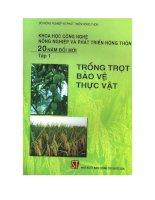 Tài liệu Trồng trọt và bảo vệ thực vật (tập 1) pptx