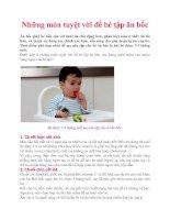 Tài liệu Những món tuyệt vời để bé tập ăn bốc docx