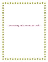 Tài liệu Làm sao tăng chiều cao cho bé 4 tuổi?. pdf