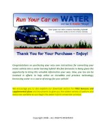 Tài liệu Run your car on water and gas double mileage! pdf