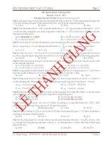luyện thi đại học vật lý 2014 đáp án - đề 3