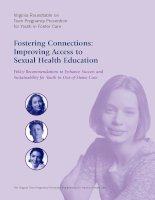 Tài liệu Fostering Connections: Improving Access to Sexual Health Education pdf