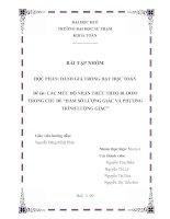 """Tài liệu TIỂU LUẬN:ĐÁNH GIÁ TRONG DẠY HỌC TOÁN Đề tài: CÁC MỨC ĐỘ NHẬN THỨC THEO BLOOM TRONG CHỦ ĐỀ """"HÀM SỐ LƯỢNG GIÁC VÀ PHƯƠNG TRÌNH LƯỢNG GIÁC ppt"""
