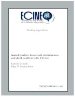 Tài liệu Armed conflict, household victimization, and child health in Côte d''''Ivoire docx