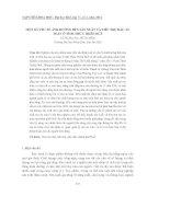 Tài liệu MỘT SỐ YẾU TỐ ẢNH HƯỞNG ĐẾN SẢN XUẤT VÀ TIÊU THỤ RAU AN TOÀN Ở TỈNH THỪA THIÊN HUẾ pdf