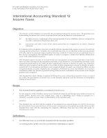 Tài liệu International Accounting Standard 12 Income Taxes pdf