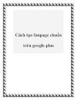 Tài liệu Cách tạo fanpage chuẩn trên google plus pot