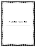 Tài liệu Văn Hóa và Mê Tín pdf