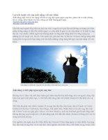 Tài liệu Lợi ích tuyệt vời của ánh nắng với sức khỏe pdf