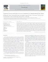 Tài liệu Cognitive function and brain structure correlations in healthy elderly East Asians doc