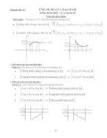chuyên đề ôn thi đại học môn toán - ứng dụng của đạo hàm, tính đơn điệu của hàm số