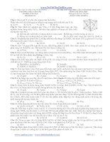 đề thi thử đại học lần 1 năm 2013 môn hóa - trường thpt chuyên lương văn tụy (mã đề 111)