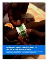 Tài liệu COMMUNITY-BASED MANAGEMENT OF SEVERE ACUTE MALNUTRITION doc