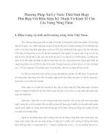 Tài liệu Phương Pháp Xử Lý Nước Thải Sinh Hoạt Phù Hợp Với Điều Kiện Kỹ Thuật Và Kinh Tế Cho Các Vùng Nông Thôn doc