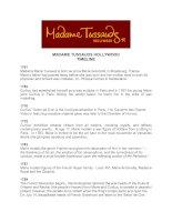 Tài liệu MADAME TUSSAUDS HOLLYWOOD TIMELINE doc
