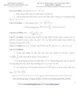 Tài liệu Tổng hợp đề thi thử ĐH môn Toán các khối Đề 58 potx