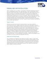 Tài liệu MINING AND WATER POLLUTION doc