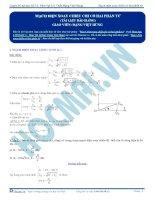 luyện thi đh kit 1 (đặng việt hùng) - mạch điện xoay chiều chỉ có hai phần tử (tài liệu bài giảng)