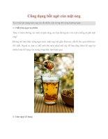Tài liệu Công dụng bất ngờ của mật ong docx