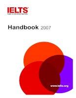 Tài liệu IELTS ENGLISH FOR INTERNATIONAL OPPORTUNITY HANDBOOK 2007 docx