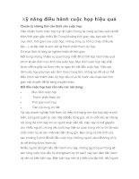 Tài liệu Kỹ năng điều hành cuộc họp hiệu quả docx