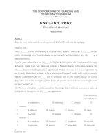 Đề thi anh văn B1 trường FPT (có đáp án)