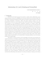 Tài liệu Relationships of L1 and L2 Reading and Writing Skills doc