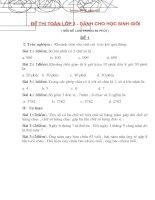 đề thi học sinh giỏi lớp 3 môn toán