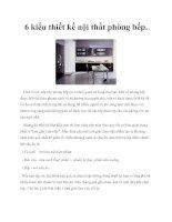 Tài liệu 6 kiểu thiết kế nội thất phòng bếp. potx