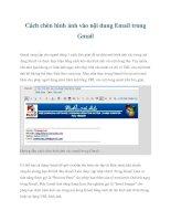 Tài liệu Cách chèn hình ảnh vào nội dung Email trong Gmail ppt