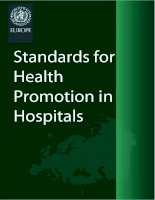 Tài liệu STANDARDS FOR HEALTH PROMOTION IN HOSPITALS doc