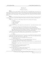 Tài liệu Đề thi tham khảo môn Thanh Toán Quốc Tế 2010 pdf