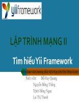 Tài liệu Tìm hiểu Yii Framework ppt