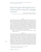 Tài liệu Spanish-English Writing Structure Interferences in Second Language Learners pptx