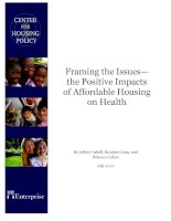 Tài liệu Framing the Issues— the Positive Impacts of Affordable Housing on Health pdf