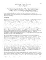 Tài liệu First Principles of Project Management By R. Max Wideman pdf