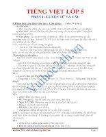 Tài liệu LUYỆN TỪ VÀ CÂU- Phân loại câu theo cấu tạo - Câu ghép pdf