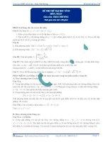 Đề thi thử đại học số 4 2012 môn toán thầy phương