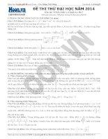 ĐỀ THI THỬ ĐẠI HỌC NĂM 2014 Môn thi: TOÁN - đề 7
