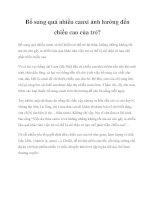 Tài liệu Bổ sung quá nhiều canxi ảnh hưởng đến chiều cao của trẻ? potx
