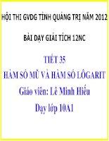 Tài liệu HAM SO MU VÀ LOGARIT NC doc