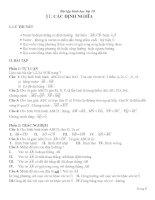 Bài tập hình học lớp 10