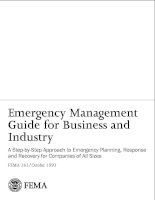 Tài liệu Emergency Management Guide for Business and Industry pdf
