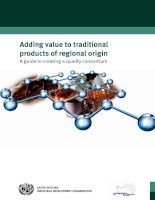 Tài liệu Adding value to traditional products of regional origin - A guide to creating a quality consortium pptx