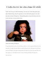 Tài liệu Cách cho trẻ ăn sữa chua tốt nhất pptx