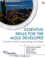 Tài liệu Essential Skills for the Agile Developer: A Guide to Better Programming and Design pptx